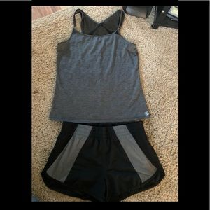 Workout outfit shorts and tank large